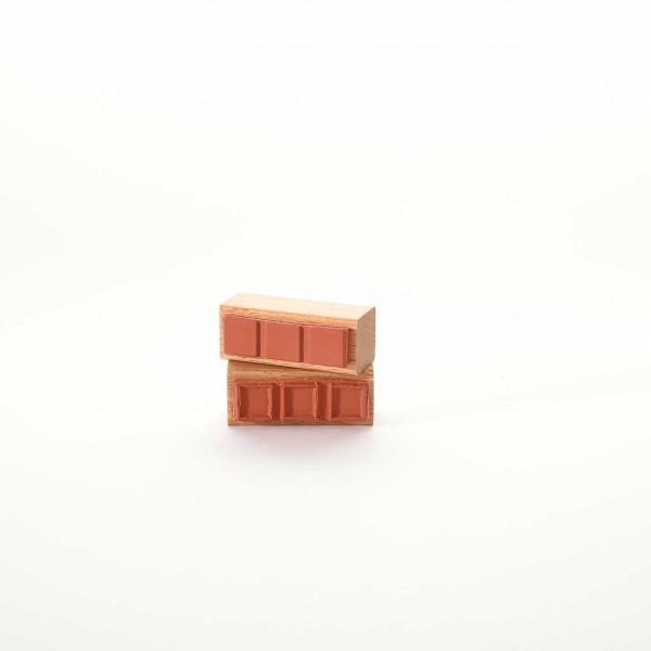 Motivstempel Titel: Drei Quadrate Flächen und Linien