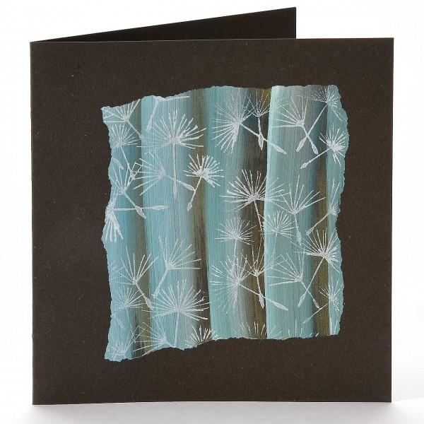 Vier Karten mit einmal Farbe III: Pusteblumenflieger