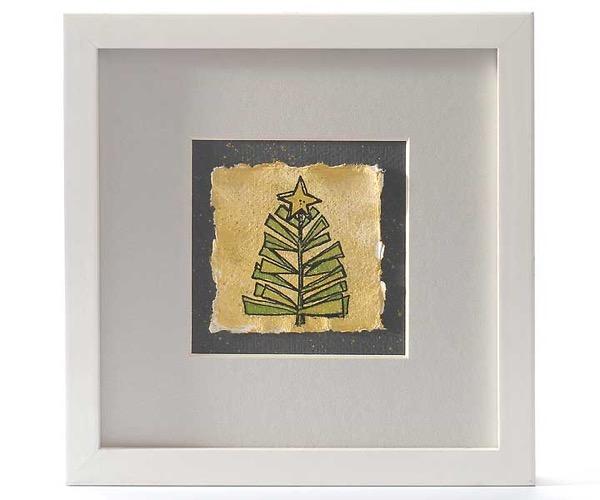Eingerahmte Weihnachtsbaumkarte