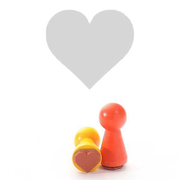 Motivstempel Titel: Ministempel Herz von Judi-Kins