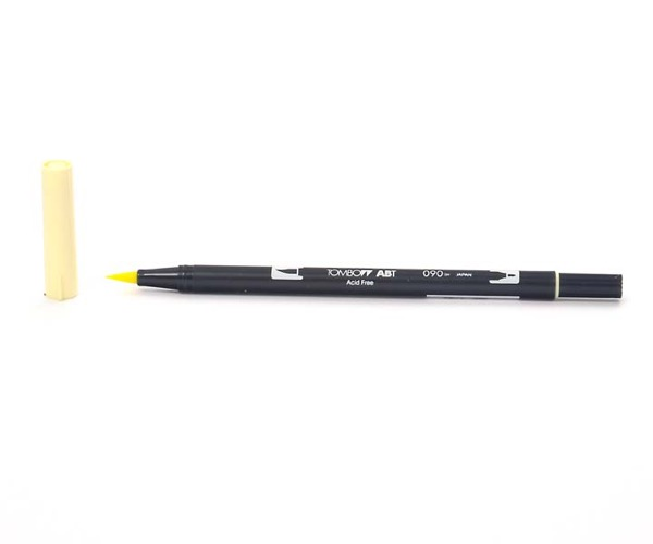 Tombow Dual Brush Pen - Baby Yellow - Baby Gelb