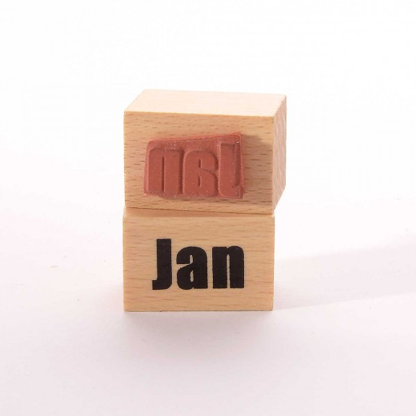 Motivstempel Titel: Monate - Jan