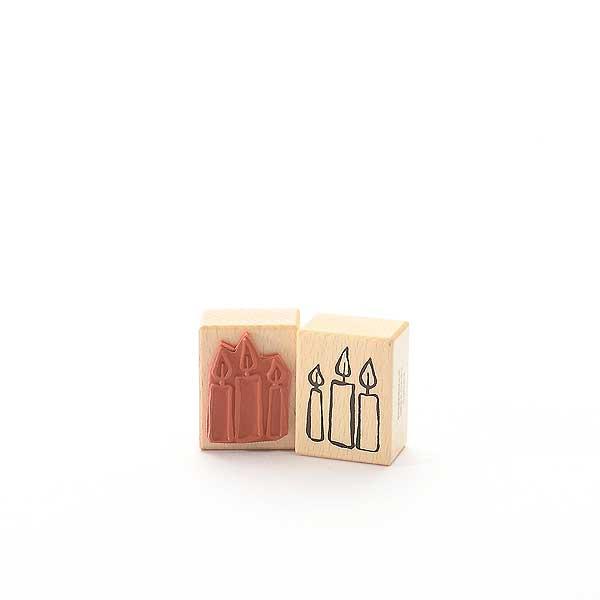 Motivstempel Titel: Drei Kerzen
