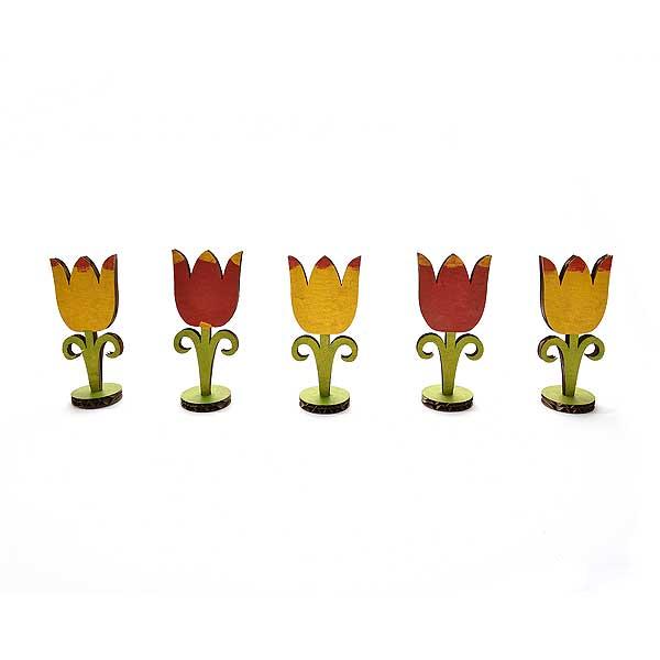 von Pappe - Tulpen (10 Stück, je 50 x 105 mm)