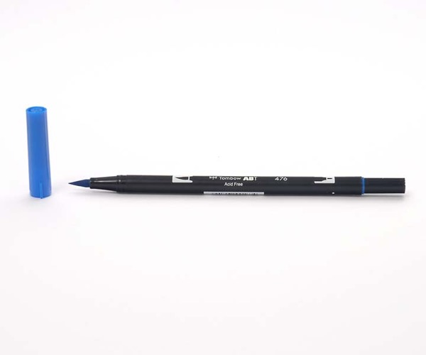 Tombow Dual Brush Pen - Cyan - Cyan