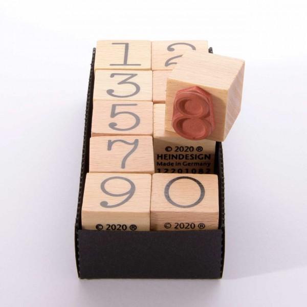 Motivstempel Titel: Set: Alle Ziffern - 1, 2, 3, 4, 5, 6, 7, 8, 9, 0