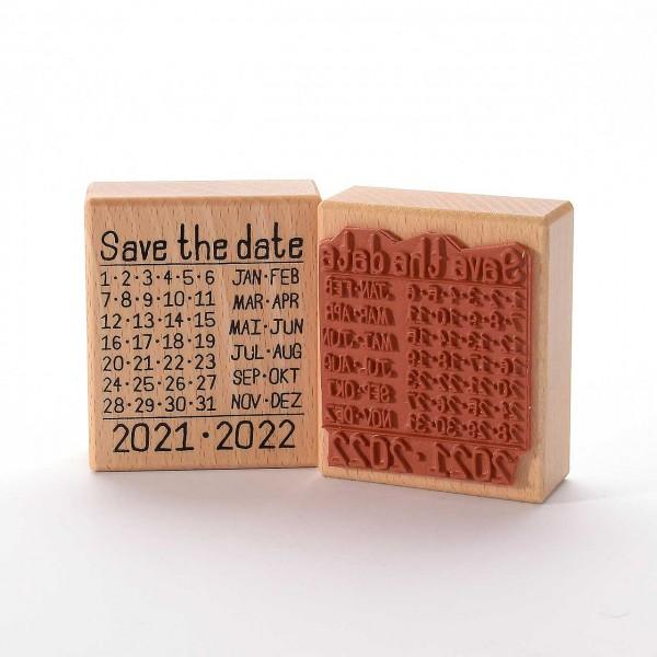Motivstempel Titel: Save the date 2021-2022