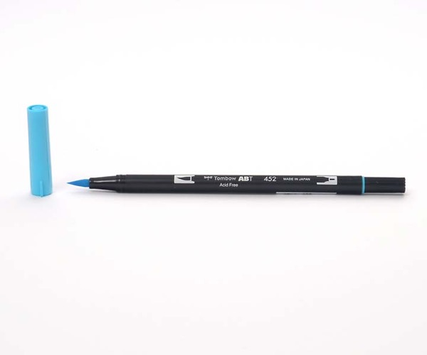 Tombow Dual Brush Pen - Process Blue - Prozeßfarbe Blau