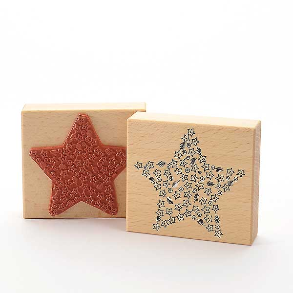 Motivstempel Titel: Weihnachtsstern aus vielen Sternen