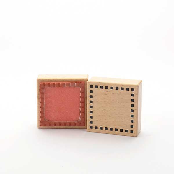 Motivstempel Titel: Kleine Quadrate Rahmen