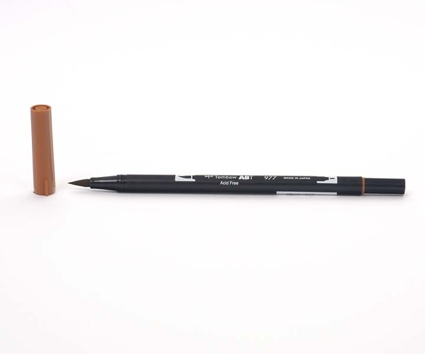 Tombow Dual Brush Pen - Saddle Brown - Leder