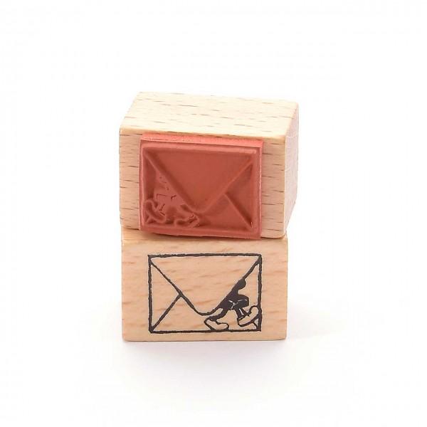 Motivstempel Titel: Stempelmännchen im Brief