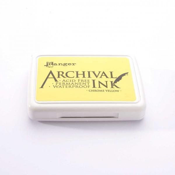 Ranger Archival Ink Stempelkissen - Chrome Yellow · Gelb