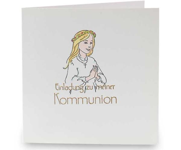 Einladung zu meiner Kommunion