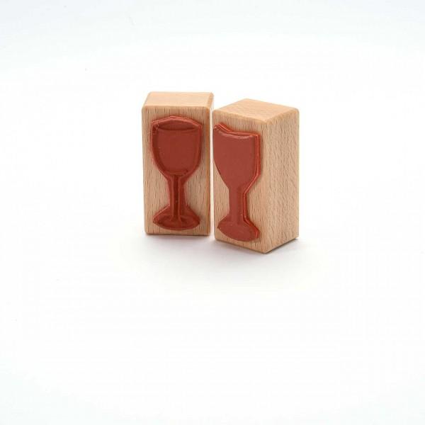 Motivstempel Titel: Weinglas - Skizze und Fläche