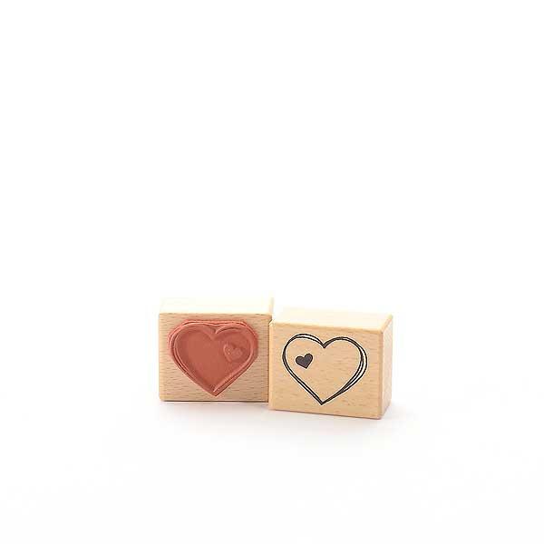 Motivstempel Titel: Herz mit Herz